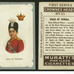 Crowned heads, Sha of Persia