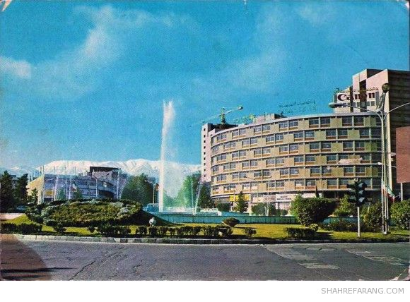 Tehran's Valiahd Square (now 'Valiasr') seen from the south-west