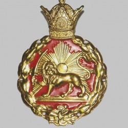Lion and Sun on Pahlavi Era Police Cap