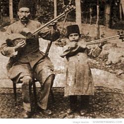 Ali-Akbar Shahnazi & his father Agha Mirza Hosseingholi Farahani