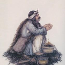 عزت علی قلندر درحالی که تریاکش تمام شده دعا می کند که تریاک برسد