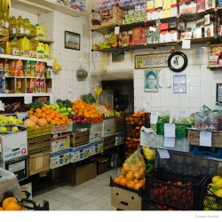 Grocery store in Valiasr street, Tehran