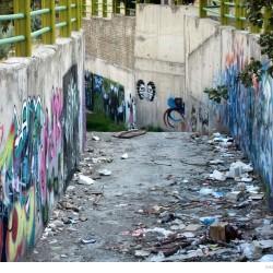 Graffiti on Tehran canal walls (1)