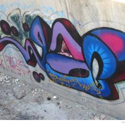 Graffiti on Tehran canal walls (2)