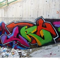 Graffiti on Tehran canal walls (4)