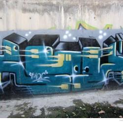 Graffiti on Tehran canal walls