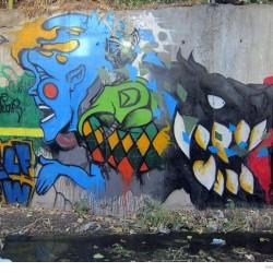 Graffiti on Tehran canal walls (60)