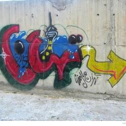 Graffiti on Tehran canal walls (78)