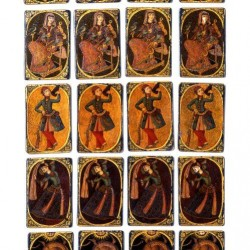 Iranian Laquer Playing Cards, half 19th century
