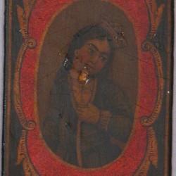 Iranian Laquer Playing Card, half 19th century