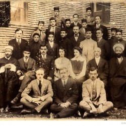 Photograph taken at the start of the 42nd academic year at the American Memorial School on August 30, 1923.