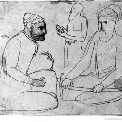 Three Persian men, by Jean Auguste Dominique Ingres