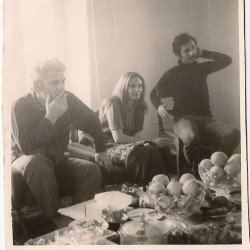 Shamloo and Naser Boqrat, Darya-kenar (Babolsar). March 1975.