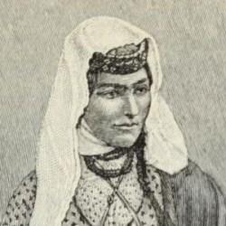 Armenian woman in street costume